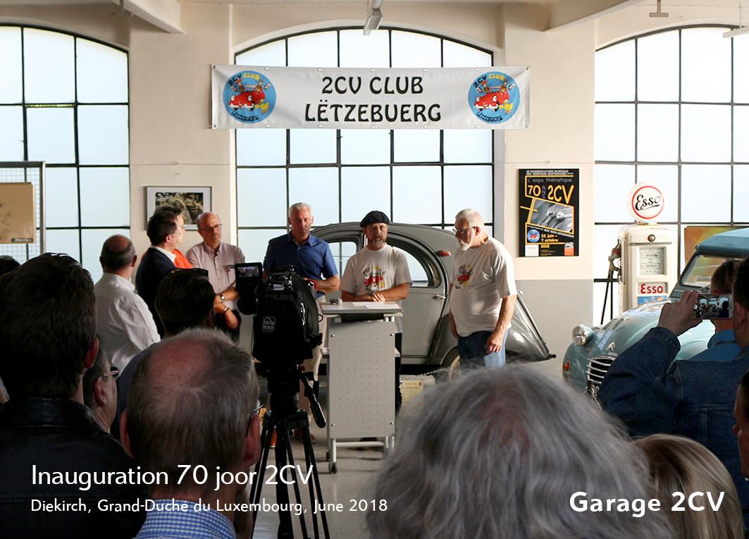 Ausstellung 70 Jahre Citroën 2CV in Luxemburg - Jetzt bei garage2cv.de