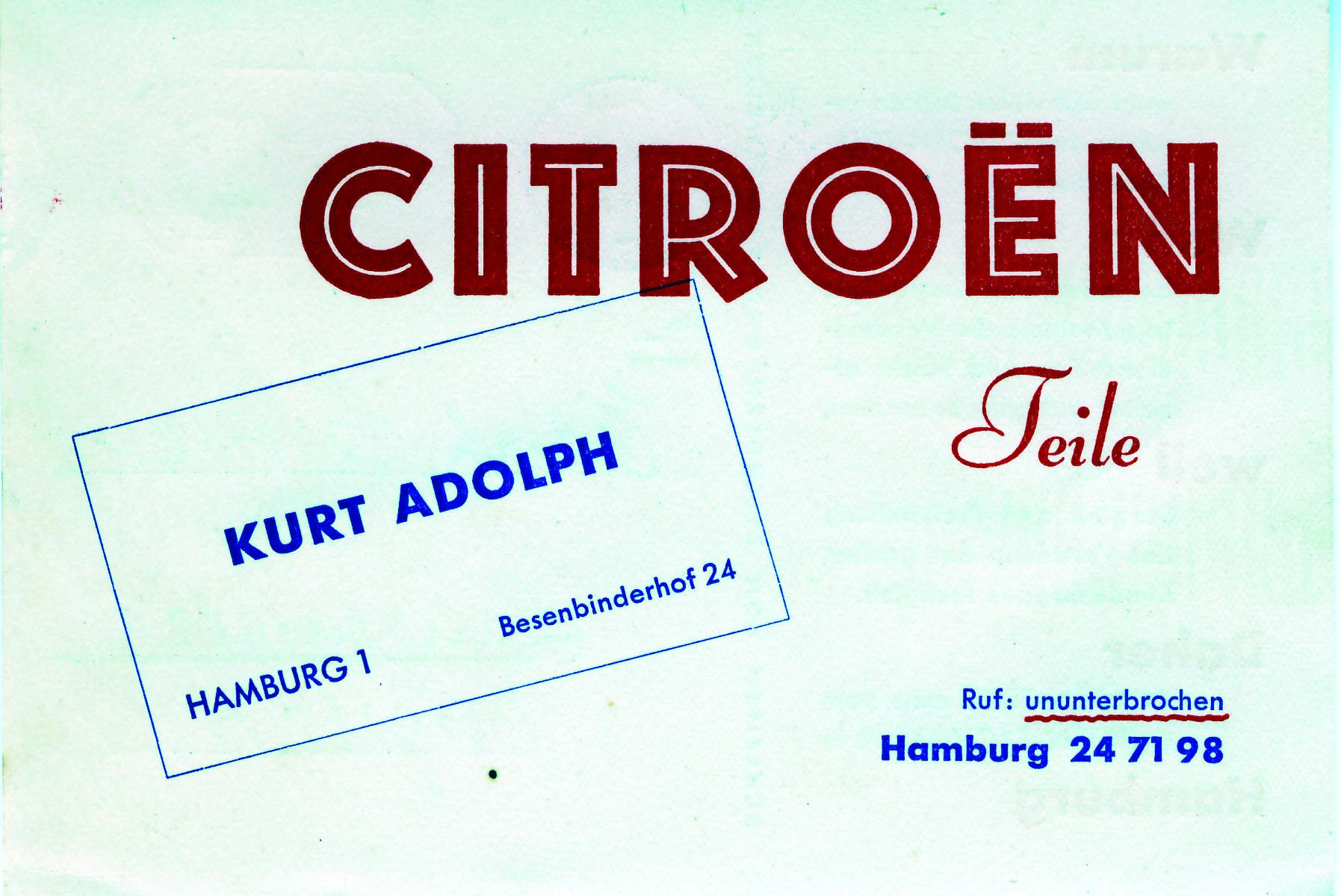 1938 Werbepostkarte Citroen 1