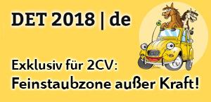 2CV-Treffen: Feinstaubzone außer Kraft in Dinslaken - Jetzt bei garage2cv.de