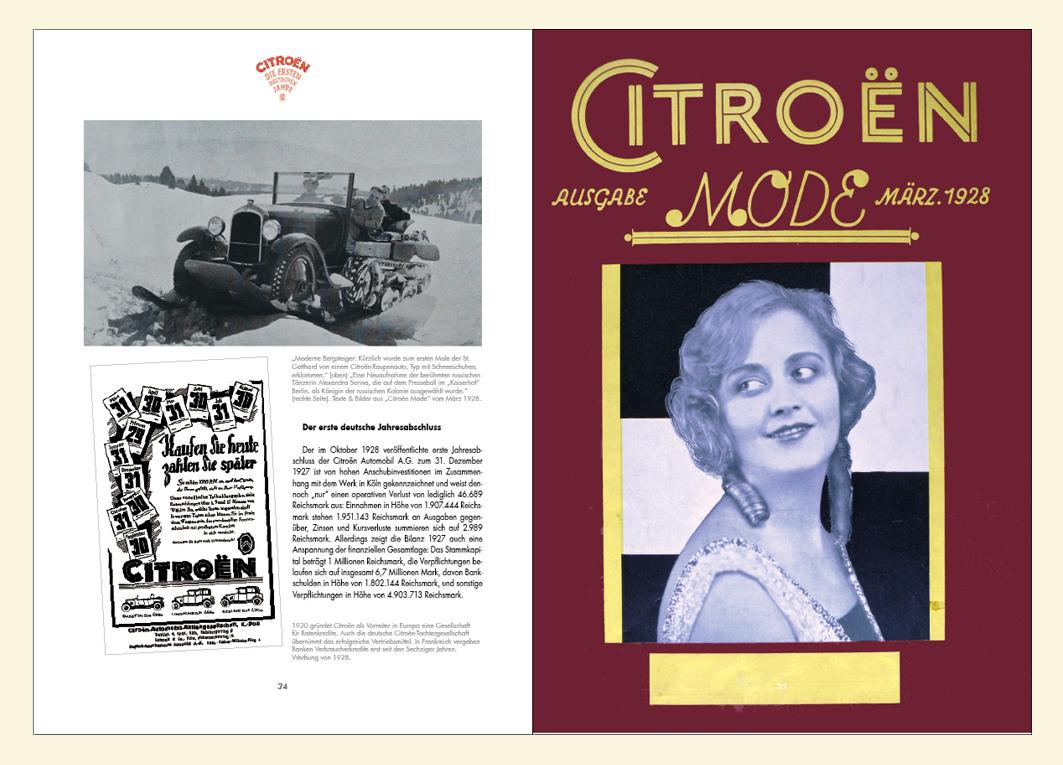 Citroën Mde von 1928: Werbezeitschrift der deutschen Niederlassung.