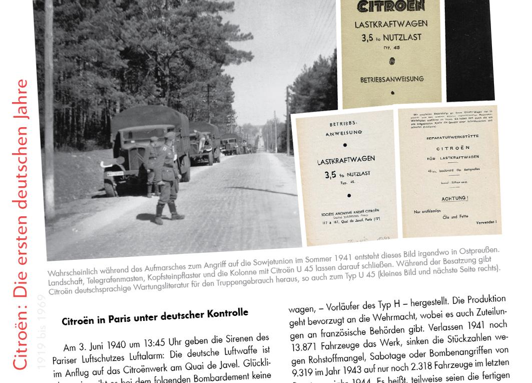 Citroën U45 im Kriegseinsatz, Juni 1941, Ostpreußen in  Citroën: Die ersten deutschen Jahre von Immo Mikloweit.