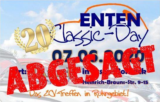 Enten Classic Day 2020 abgesagt