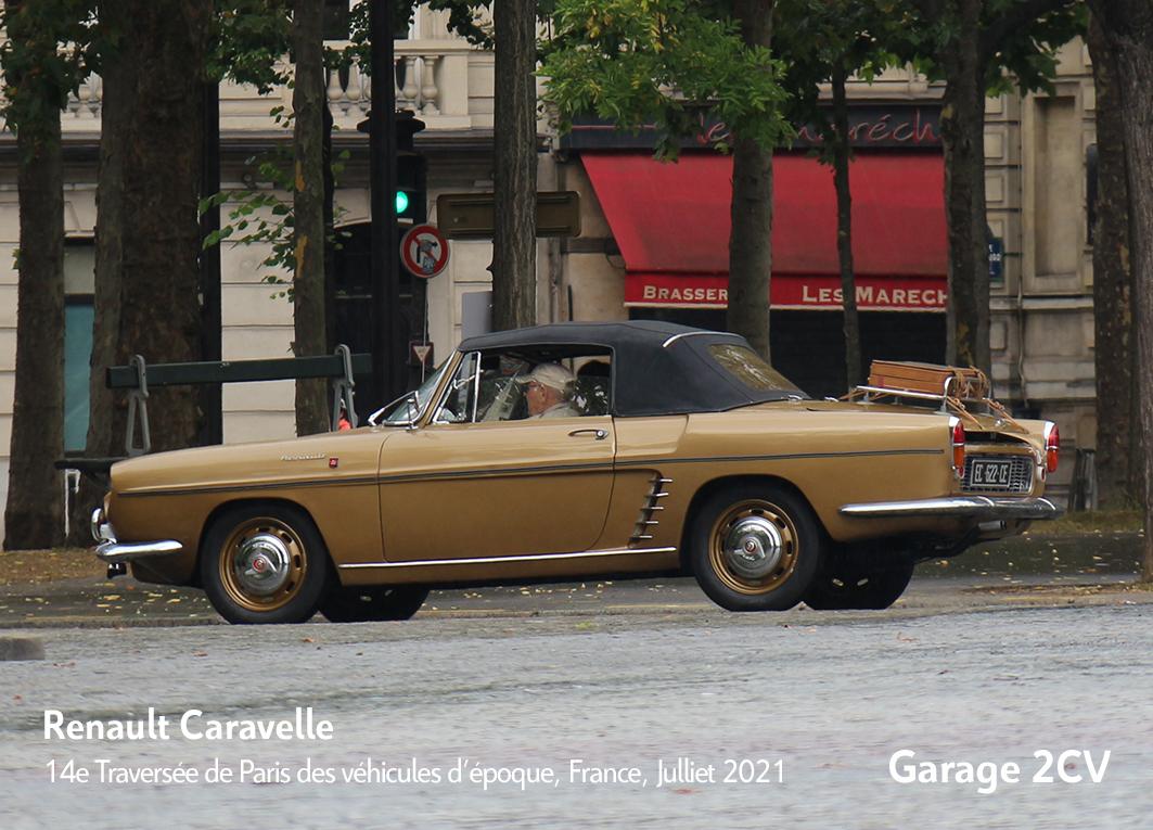 Renault Caravelle 14e traverseée de Paris estivale en véhicules anciens - Garage 2CV