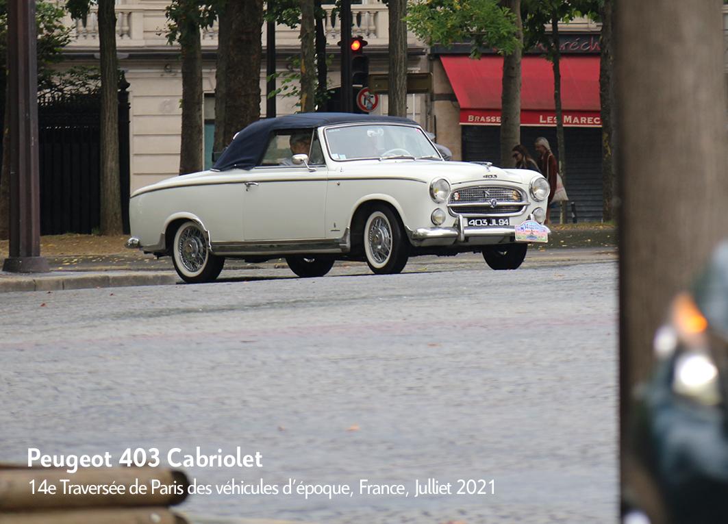 Peugeot 403 - 14e traverseée de Paris estivale en véhicules anciens - Garage 2CV