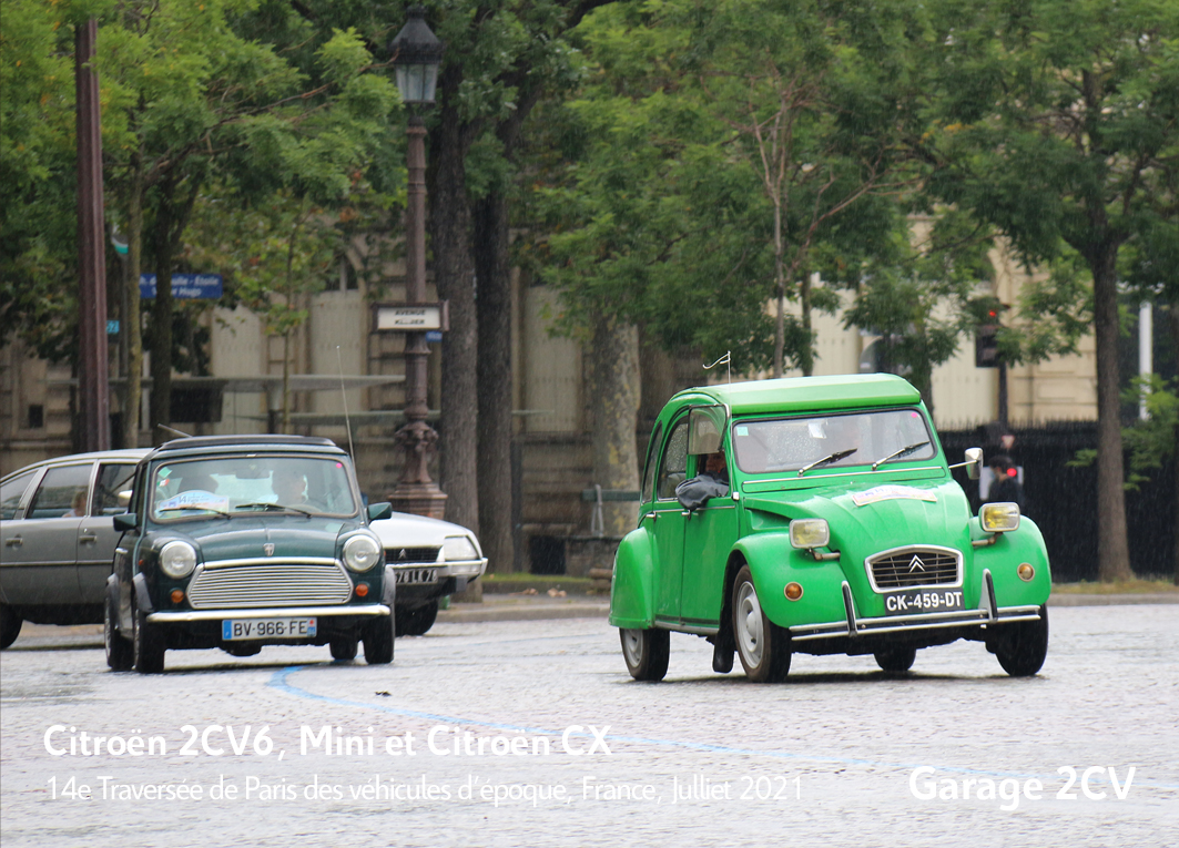 Citroën 2CV & CX & Mini - 14e traverseée de Paris estivale en véhicules anciens - Garage 2CV