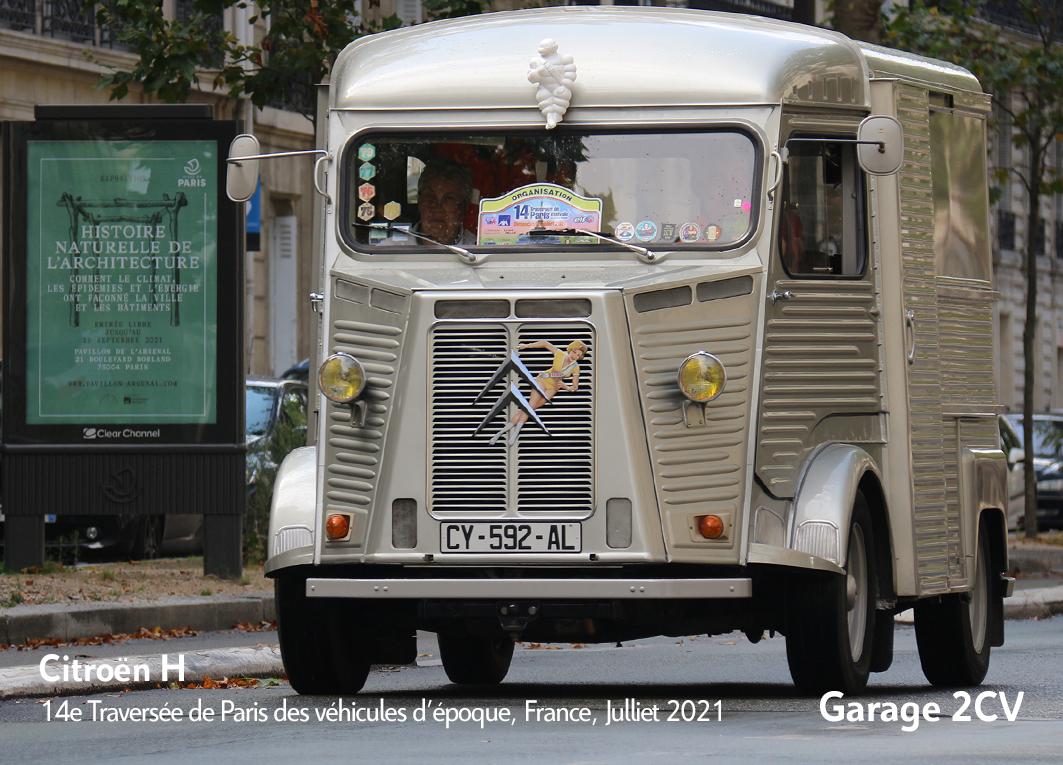 Citroën H - 14e traverseée de Paris estivale en véhicules anciens - Garage 2CV