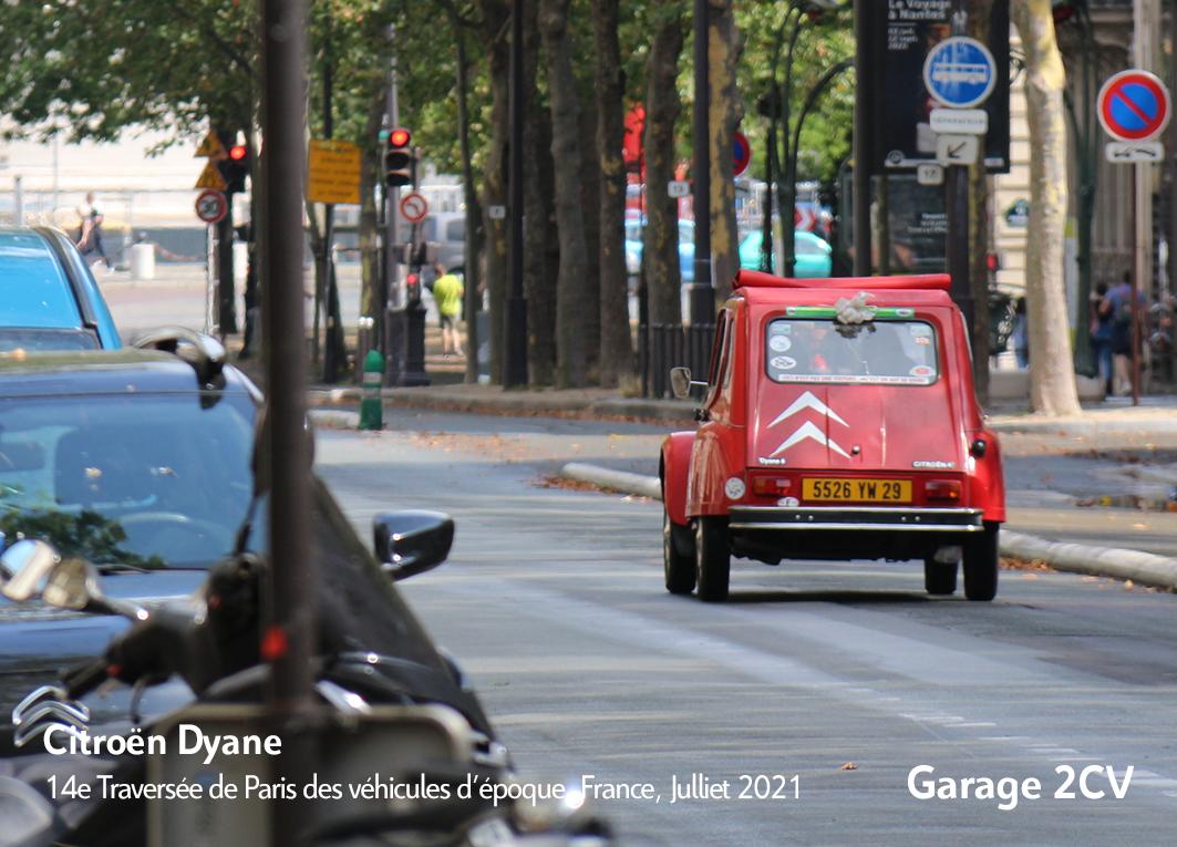 Citroën Dyane - 14e traverseée de Paris estivale en véhicules anciens - Garage 2CV
