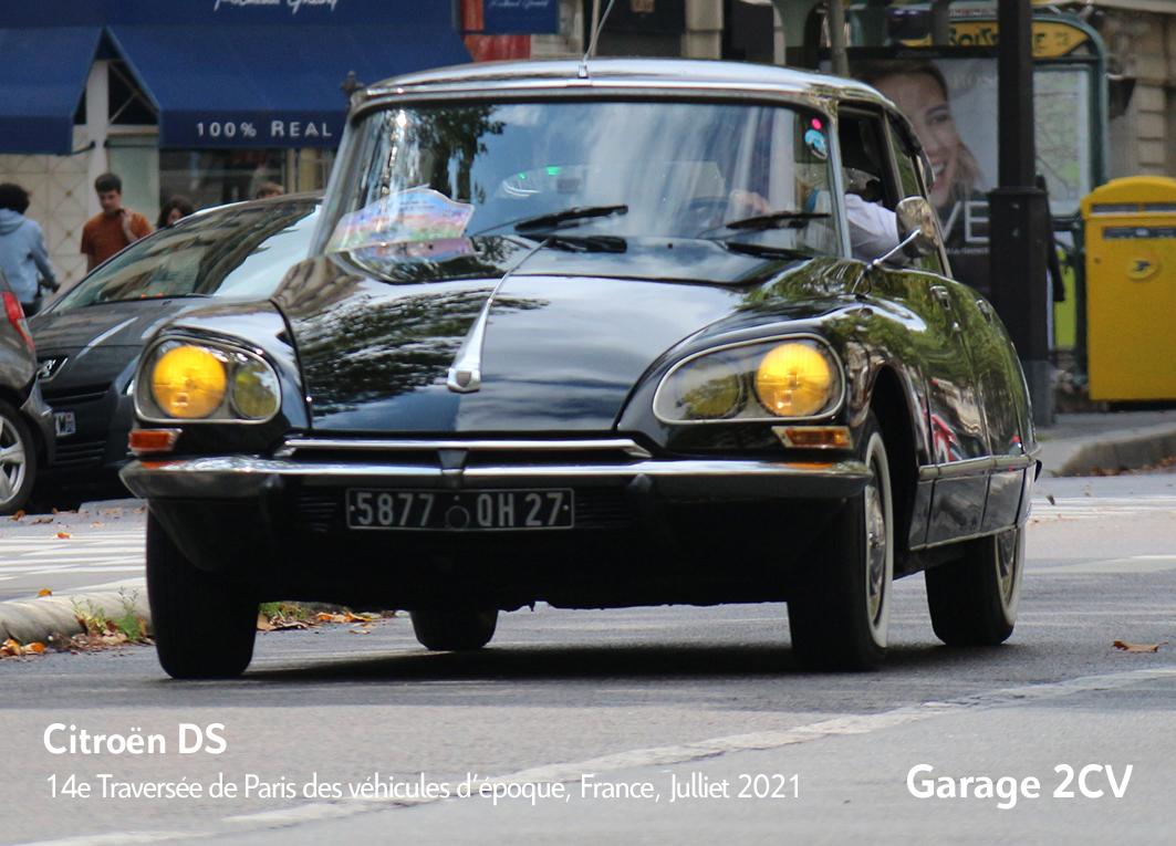 Citroen DS - 14e traverseée de Paris estivale en véhicules anciens - Garage 2CV