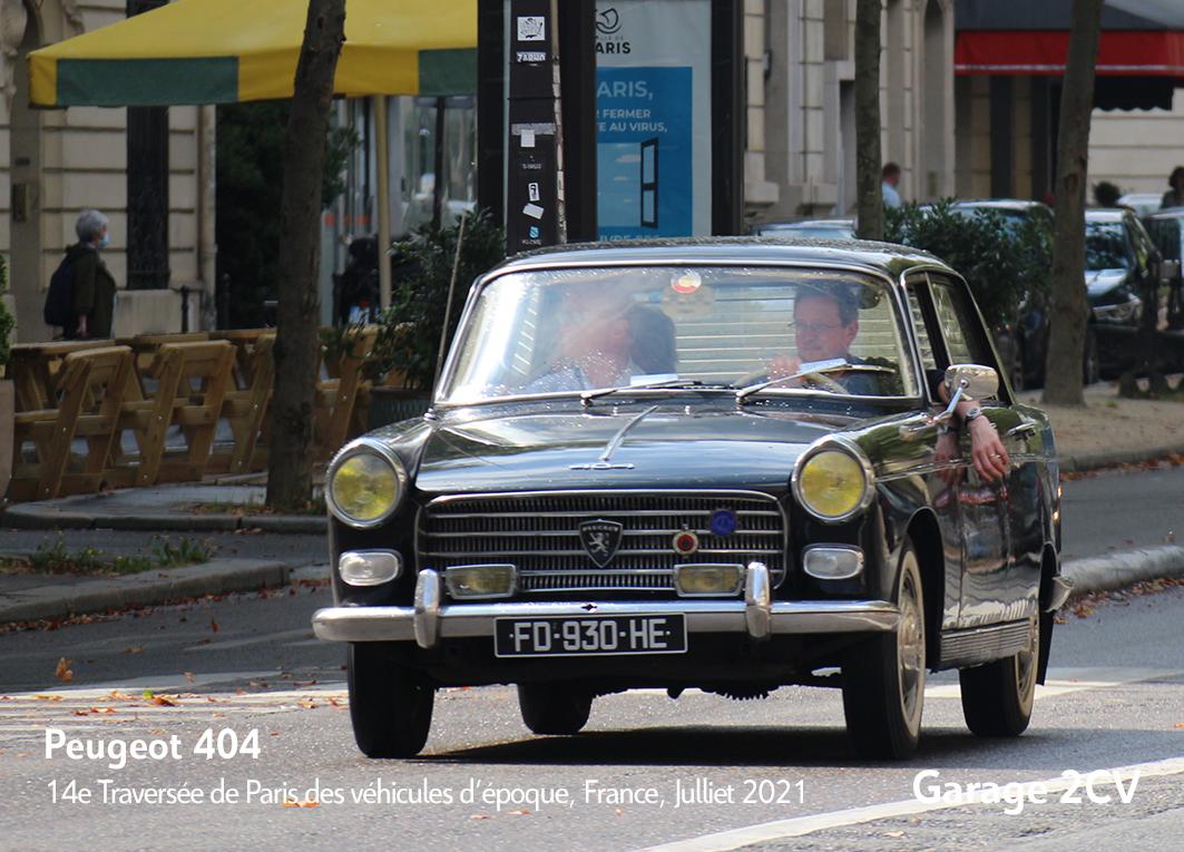 Peugeot 404 - 14e traverseée de Paris estivale en véhicules anciens - Garage 2CV