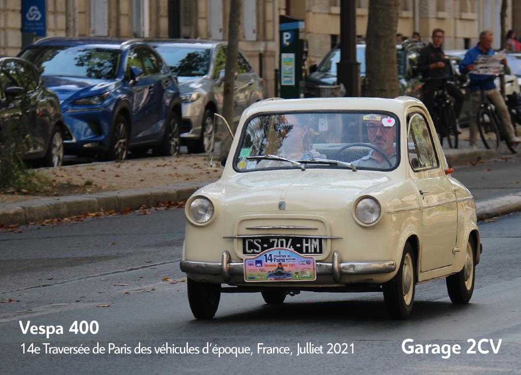 Vespa 400 - 14e traverseée de Paris estivale en véhicules anciens - Garage 2CV