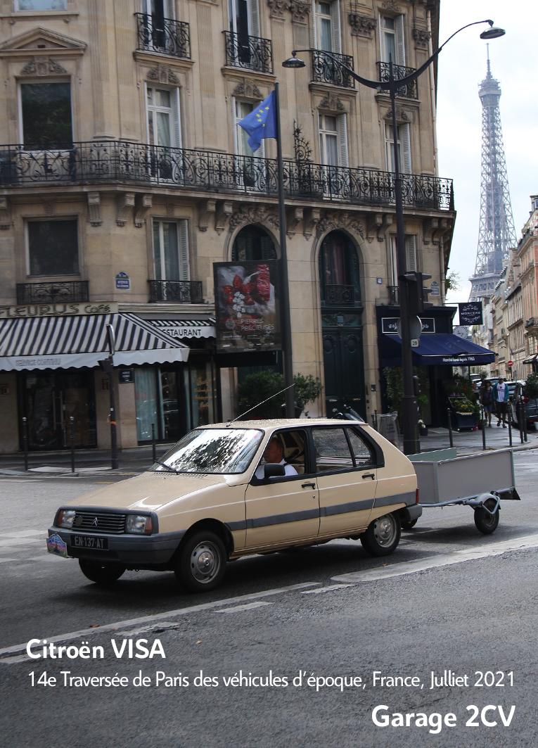 Citroën Visa - 14e traverseée de Paris estivale en véhicules anciens - Garage 2CV