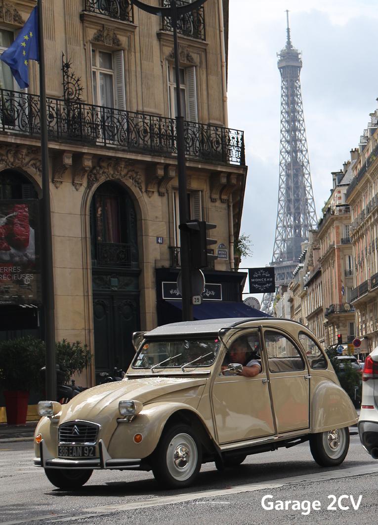 Citroën 2CV6 - 14e traverseée de Paris estivale en véhicules anciens - Garage 2CV