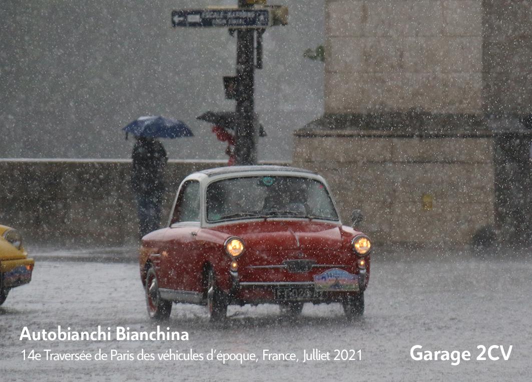 Autobianchi - 14e traverseée de Paris estivale en véhicules anciens - Garage 2CV