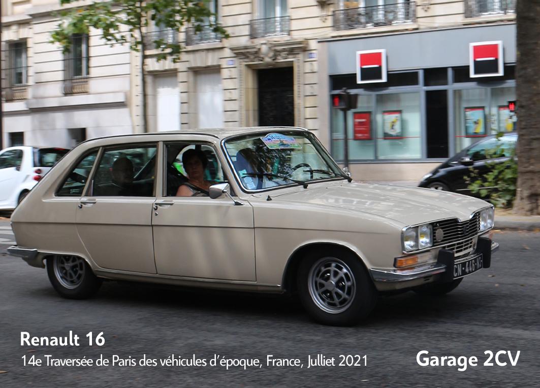 Renault 16 - 14e traverseée de Paris estivale en véhicules anciens - Garage 2CV
