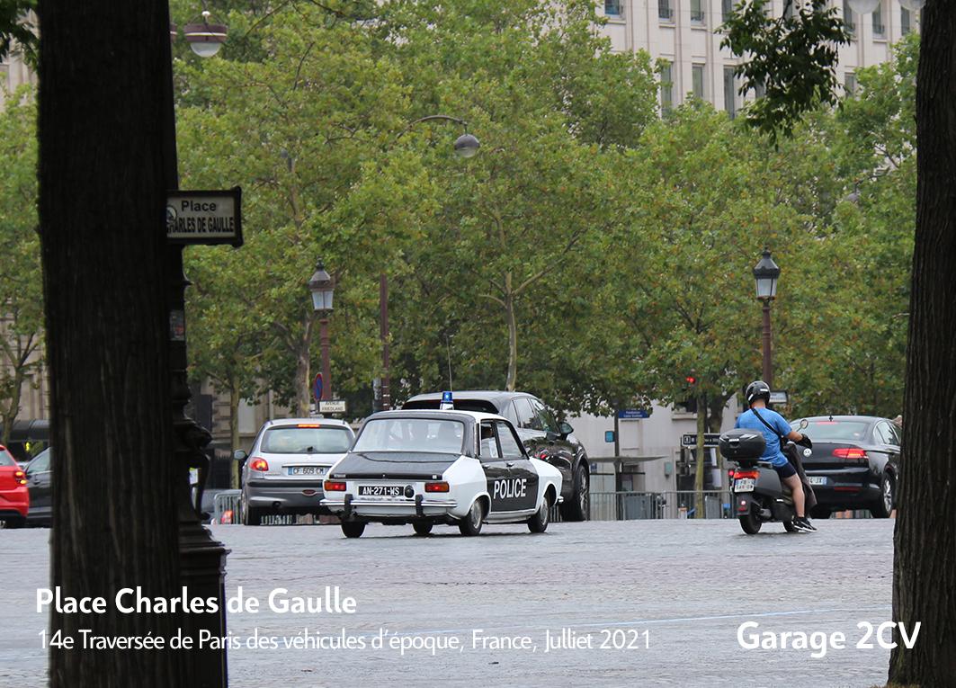 Renault 12 Police - 14e traverseée de Paris estivale en véhicules anciens - Garage 2CV
