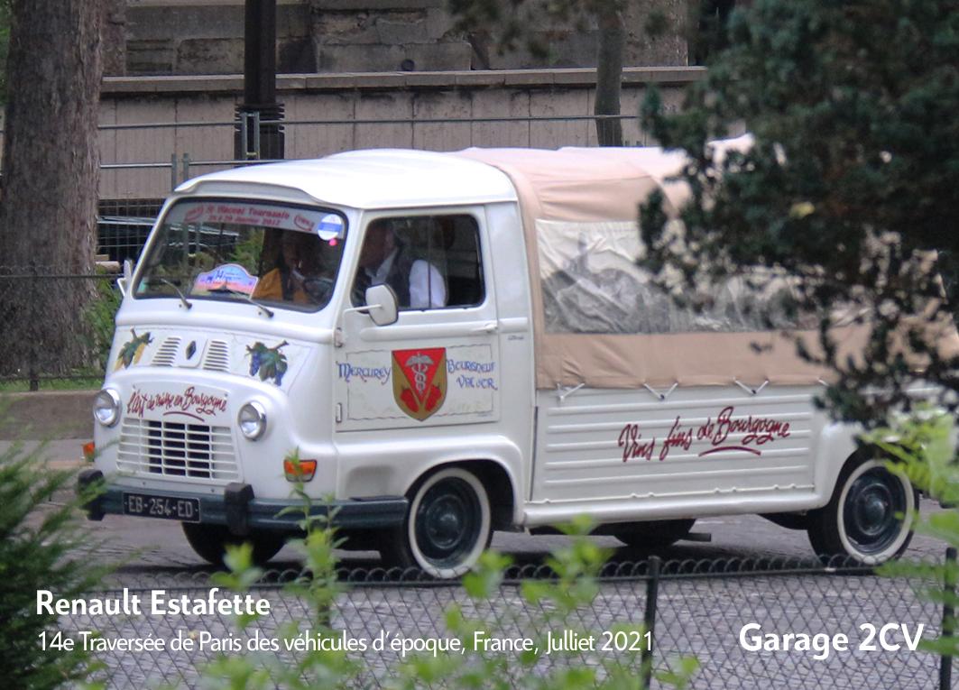 Renault Estafette - 14e traverseée de Paris estivale en véhicules anciens - Garage 2CV