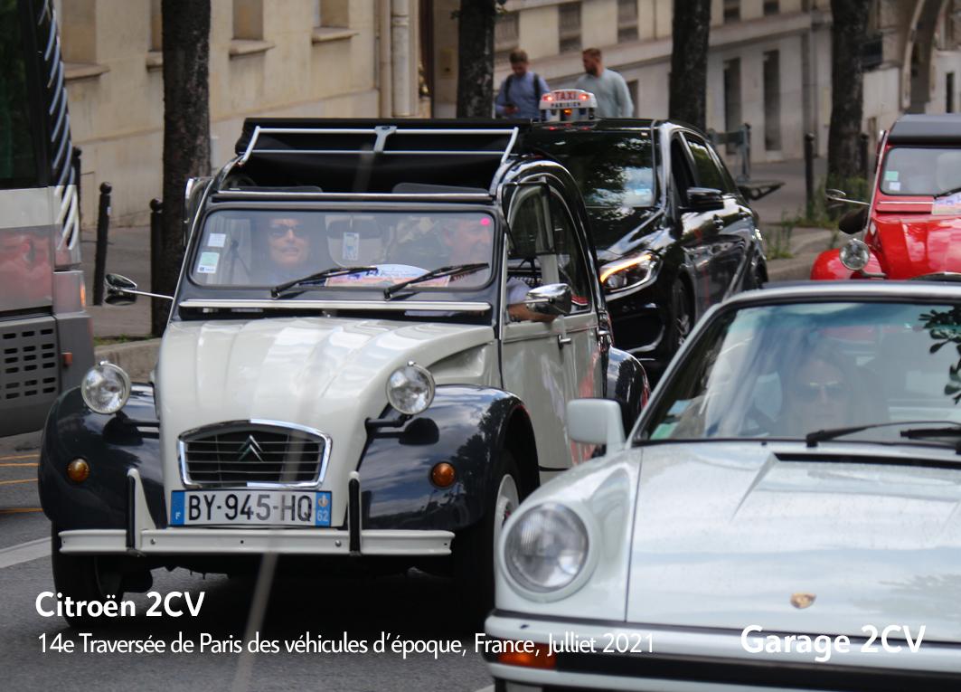 Citroën 2CV - 14e traverseée de Paris estivale en véhicules anciens - Garage 2CV