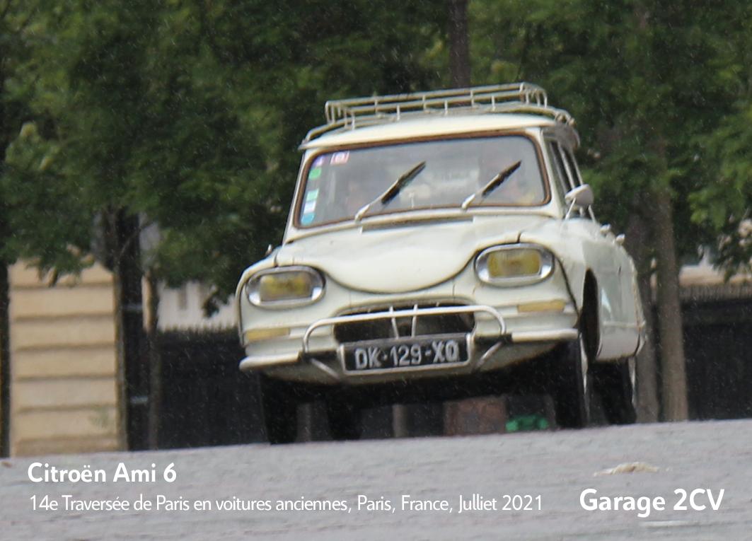 Citroën Ami 6 - 14e traverseée de Paris estivale en véhicules anciens - Garage 2CV