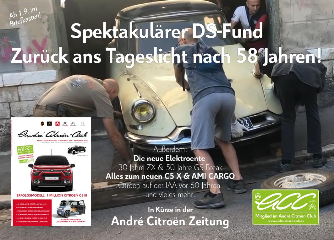 Die André Citroën Zeitung erscheint seit sechzig Jahren und ist das älteste deutschsprachige Citroën-Magazin.